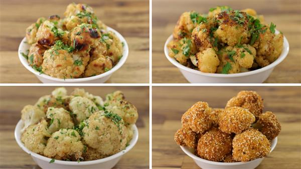 Roasted Cauliflower Florets - 4 Easy Recipes