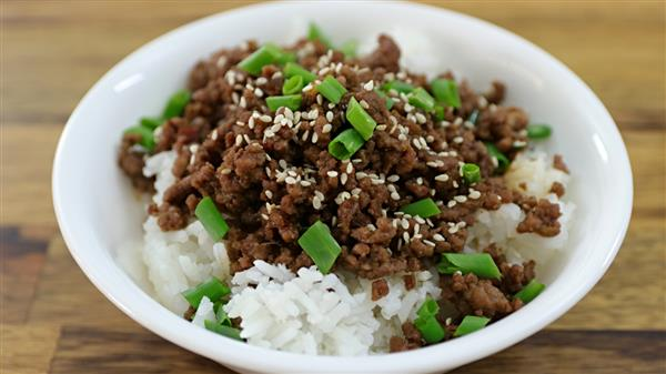 Korean Ground Beef and Rice Recipe