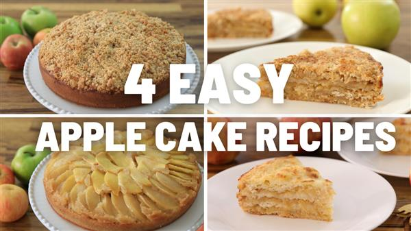 4 Easy Apple Cake Recipes