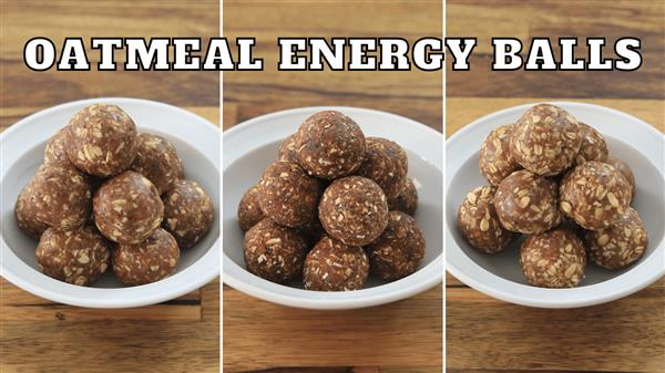 No-Bake Oatmeal Energy Balls – 3 Easy Recipes